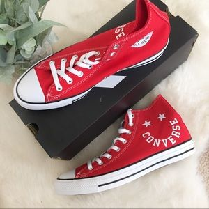 [Converse] NEW Unisex Red High Top Sneakers